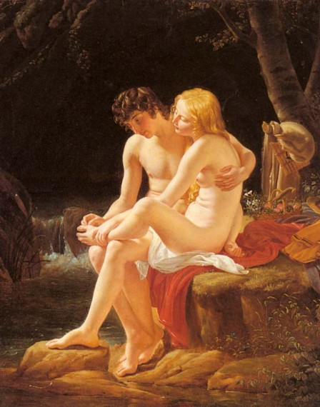 Daphnis and Chloe by Louis Hersent