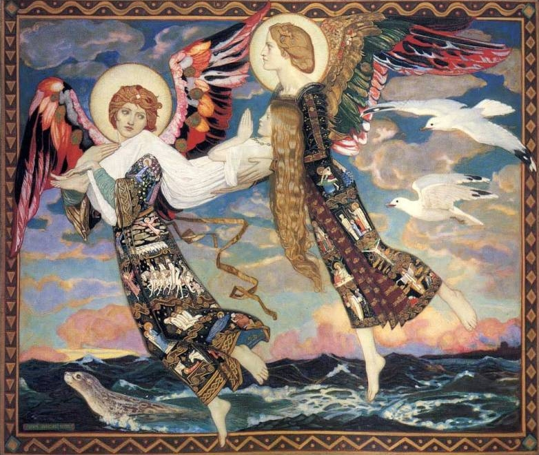 John Duncan St Bride Carried by the Angels