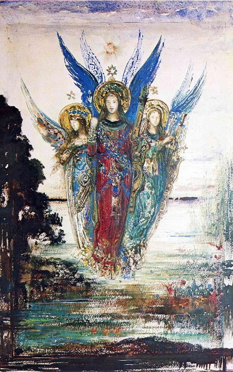 Gustave Moreau voices-of-evening 1885