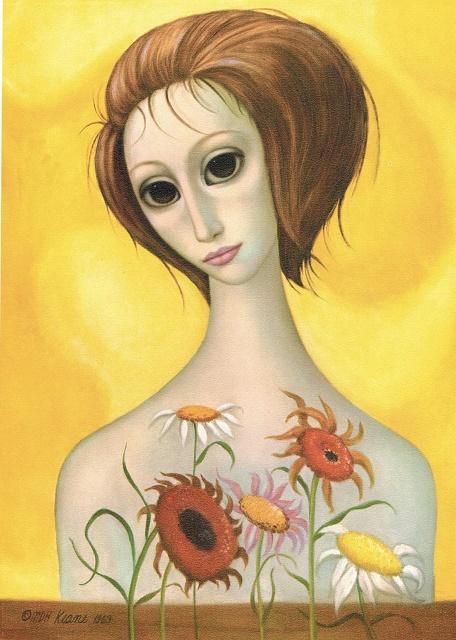 Margaret Keane Sunflowers 1963