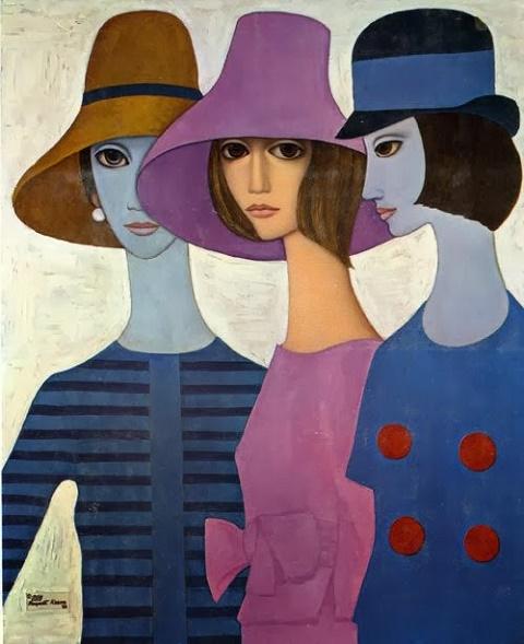 Margaret Keane Three Models