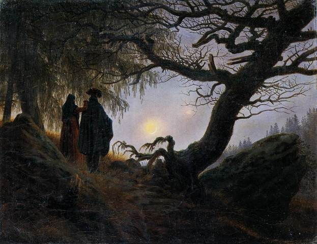 Man and Woman Contemplating the Moon 1824