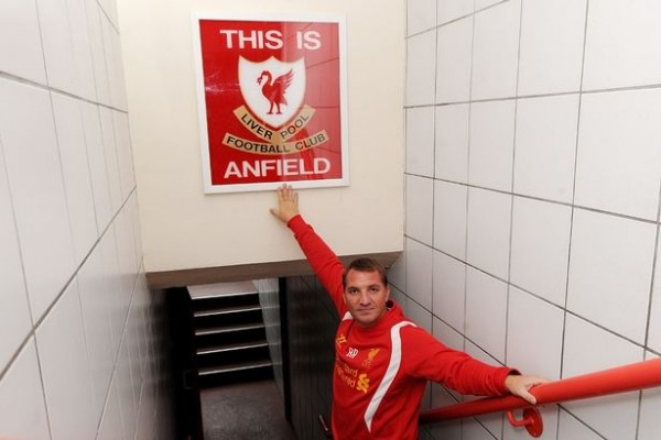 Brendan+Rodgers+With+The+Remounted+This+Is+Anfield+Sign