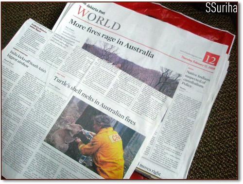 Australia fires rage news at Santika Bogor