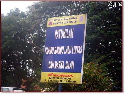 Sesampai kota Bogor dari Jakarta