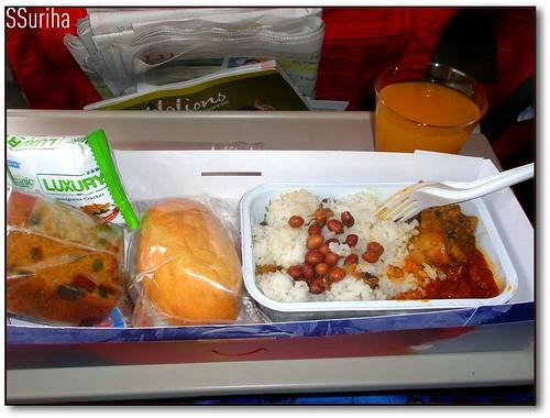 Atas pesawat Mas terbang pergi Jakarta
