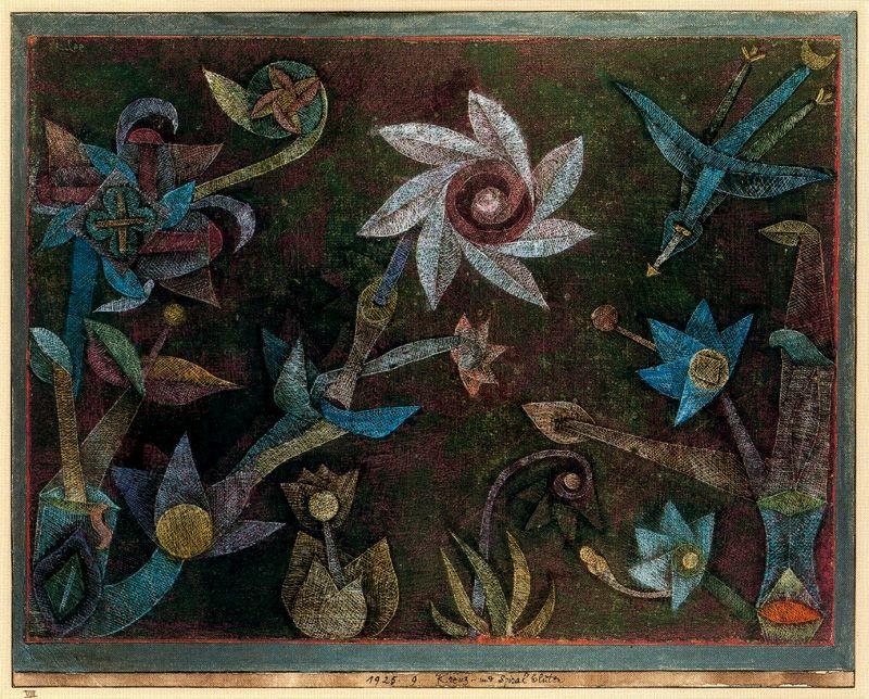 клее крестооб и спир цветы