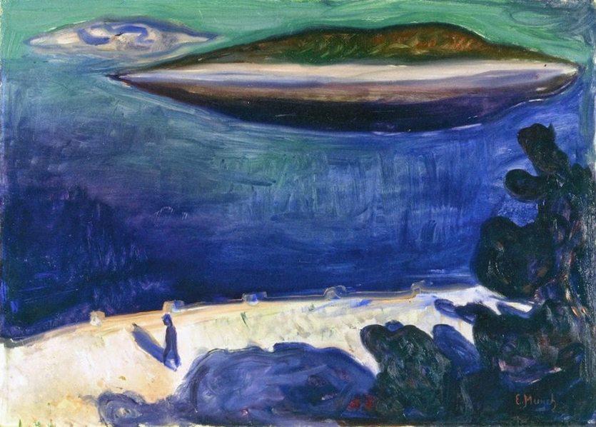 Мунк Вид с Нордстранда 1900 1901
