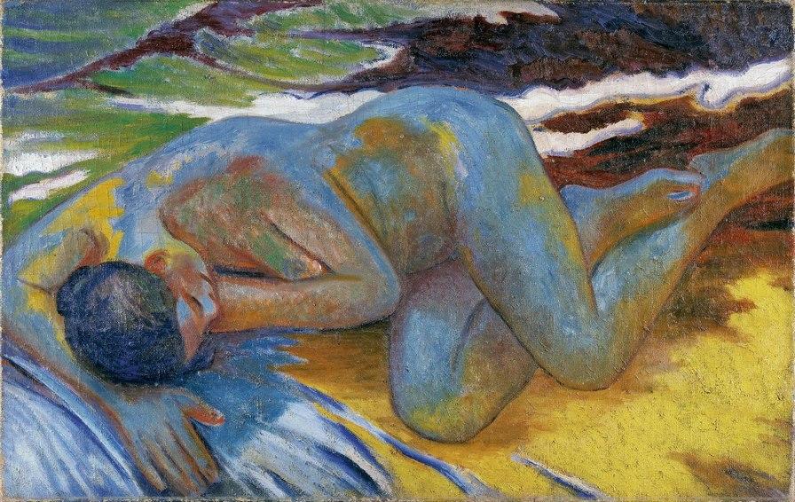 Ларионов Мих 1 - Голубая обнажённая, ок. 1908