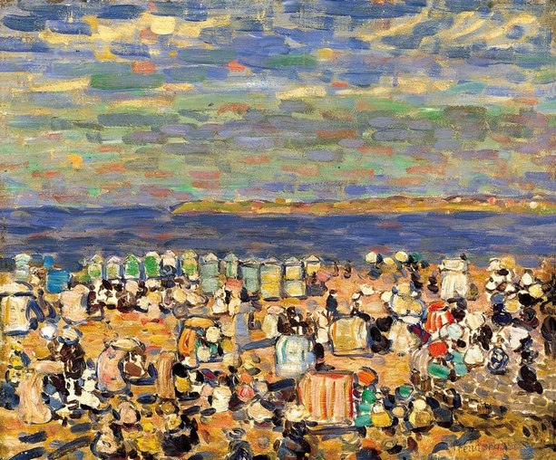 Prendergast, Maurice - Пляж в Сен-Мало, ок. 1907