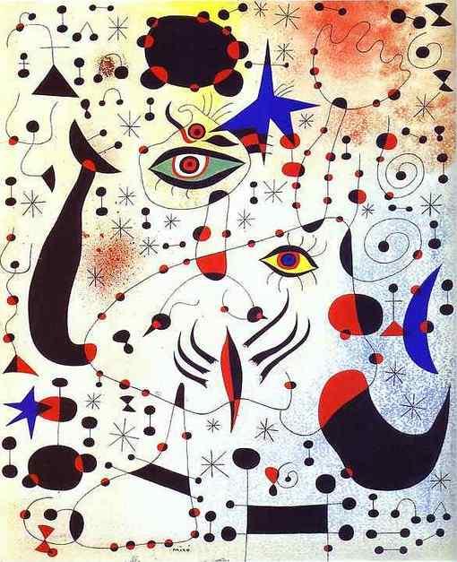 Хуан Миро Коды и созвездия, в любви с женщиной 1941