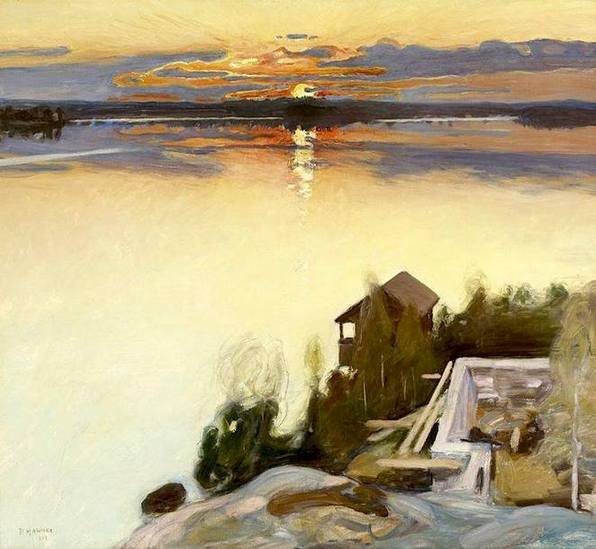 Pekka Halonen Sunset at Lake Tuusula 1902