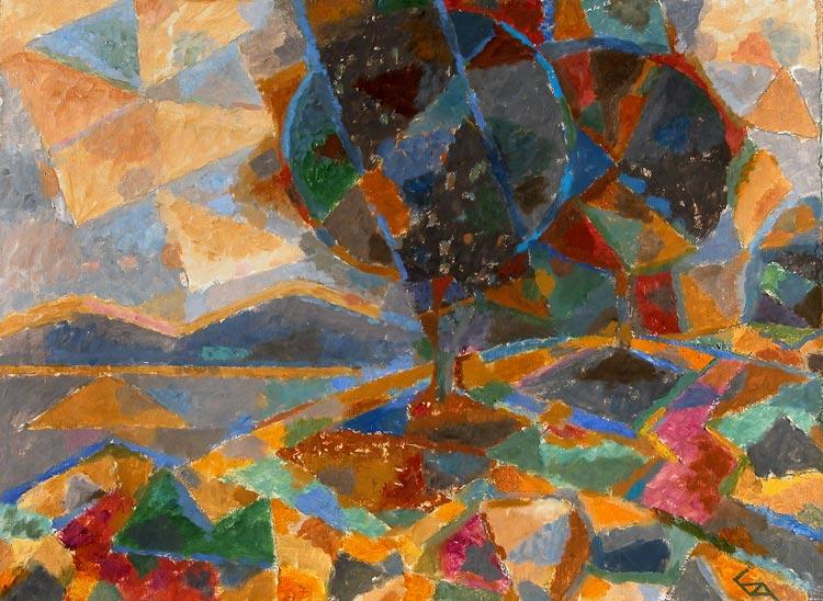 Борис Чернышев 1958 Деревья над озером