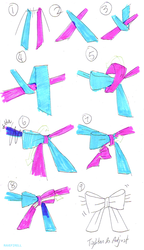 How to Tie Lolita Bow by Ravefirell