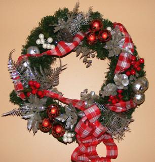 Candy-Cane inspired wreath (originally made for my mom)