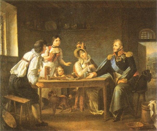 митуар бенуа шарль_ап и еп в крестьянском доме в северной богемии июнь 1813