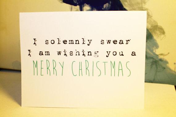 solumnly swear christmas card