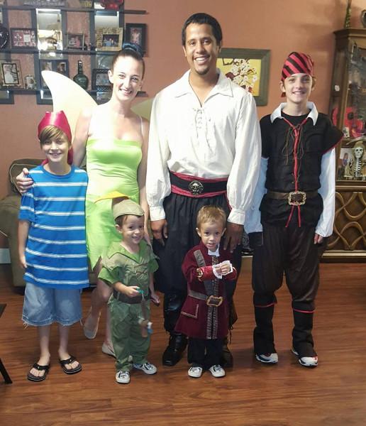 Amanda and family Halloween 2016