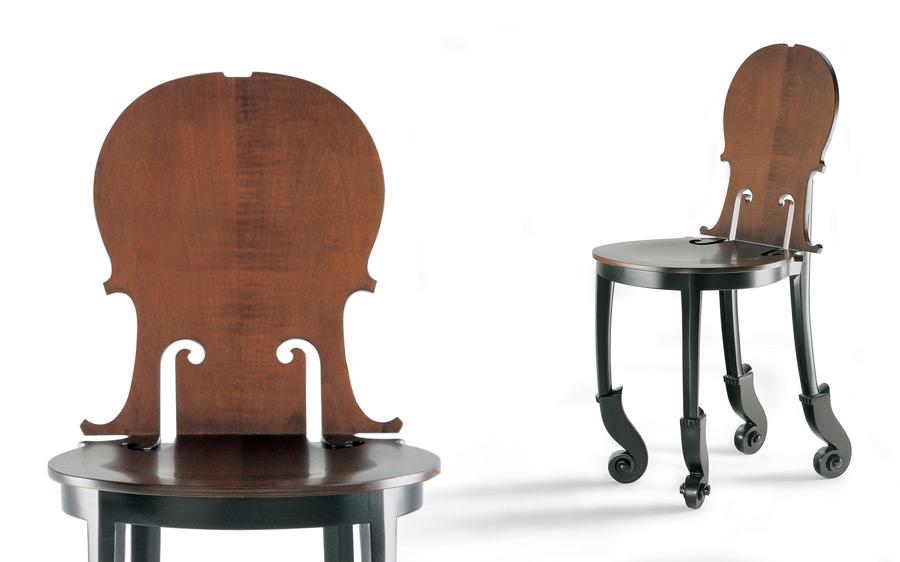 Стулья Cello от знаменитого Армана для Hugues Chevalier