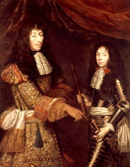 Герцогом Enghien. с его сыном Анри. le Великий Condé.