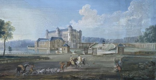 Шантийи в конце XVIII века, Гуашь де Жан-Батист Лаллеман, музей Конде