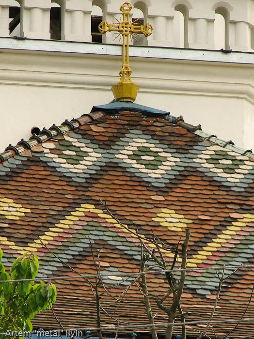 Разноцветная черепица Николаевский собор, Черновцы