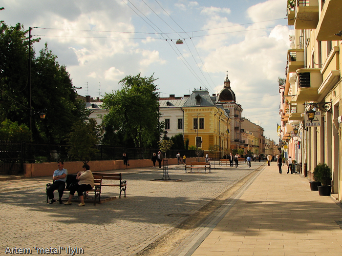 Пешеходная улица Ольги Кобылянской, Черновцы