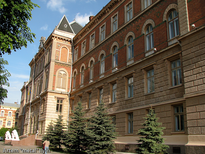 Львы около здания областной администрации, Черновцы