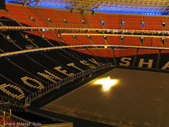 Лучший вид на поле Донбасс Арены открывается с верхних уровней стадиона. Корпоративные ложи Донбасс Арена