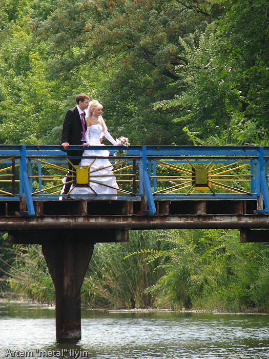 Свадьба на мосту в Димитрове Донецкой области