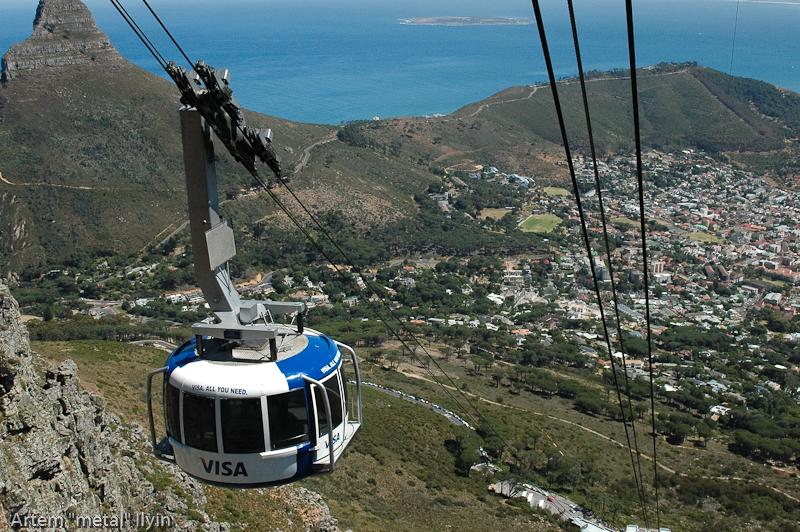 Канатная дорога на Столовую гору Кейптаун, Южная Африка
