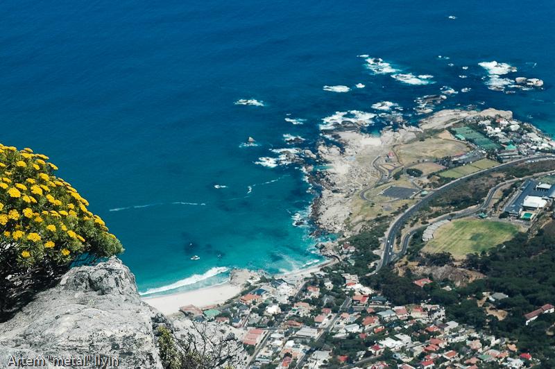 Вид на океан со Столовой горы, Кейптаун, Южная Африка