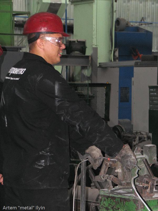 Сварка двух бухт катанки завод Днепрометиз
