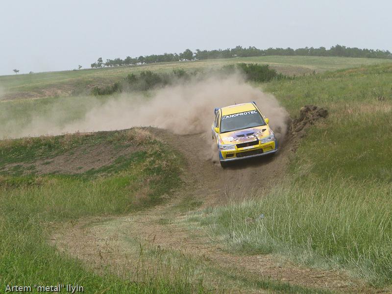 Николай Соболев и Татьяна Кравцова - донецкий экипаж на Ралли Мариуполь 2010
