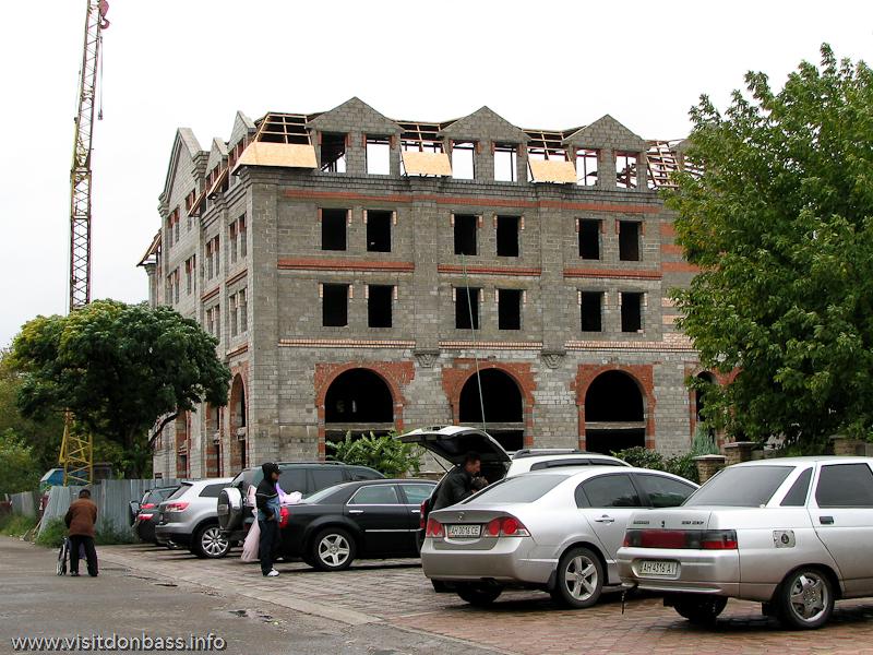 Гостиница Гранд Отель, Мариуполь, строительство нового корпуса