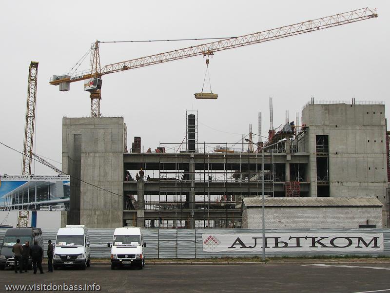 Строительство нового терминала в аэропорту Донецк