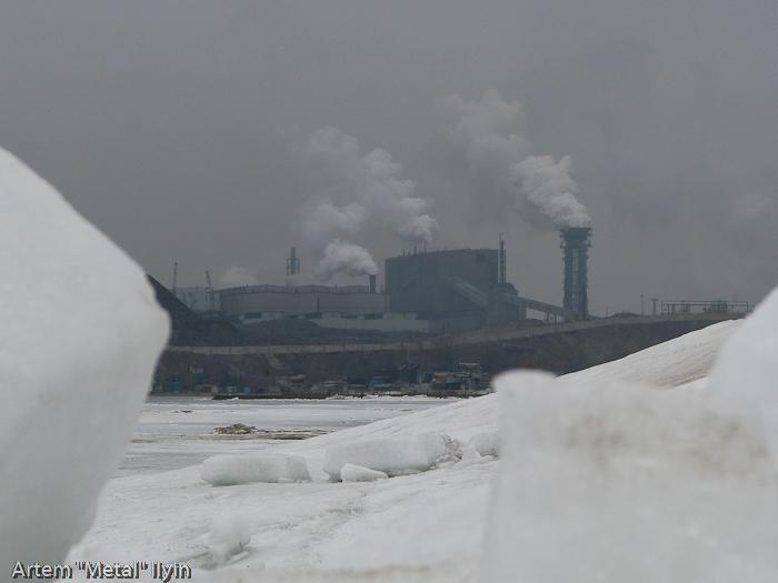 Льды на Азовском море в районе Мариуполя