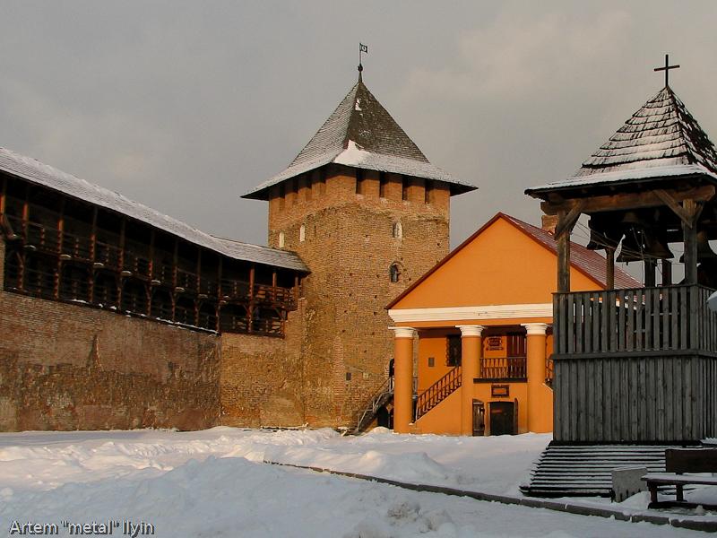 Подземная экспозиция в замке Любарта в Луцке