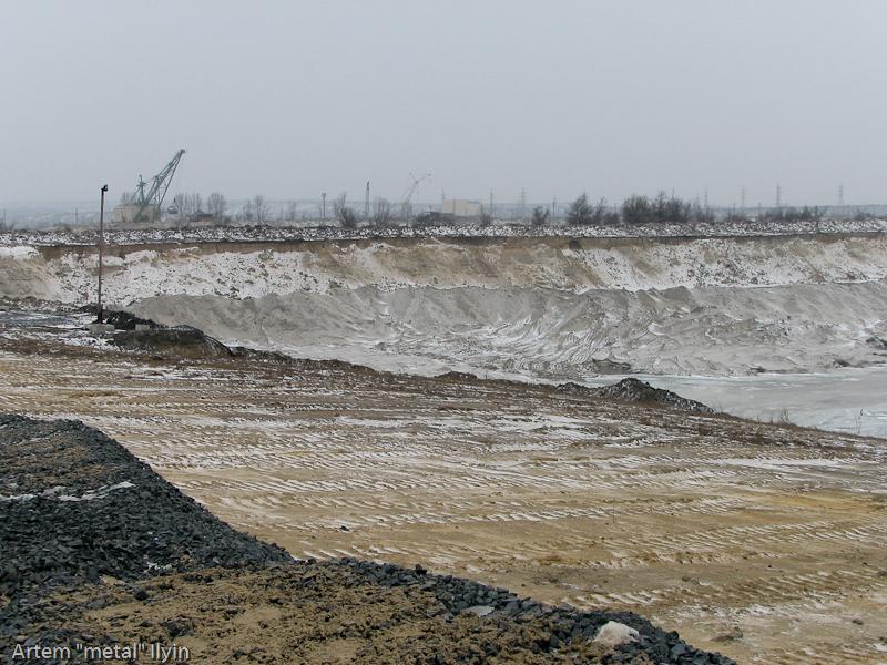 Карьерный экскаватор. Строительство Еристовского ГОКа, Комсомольск, Полтавская область