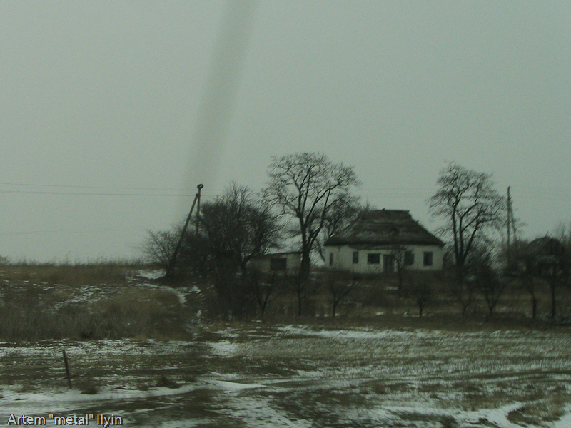 Хаты-мазанки с соломенными крышами, Комсомольск, Полтавская область