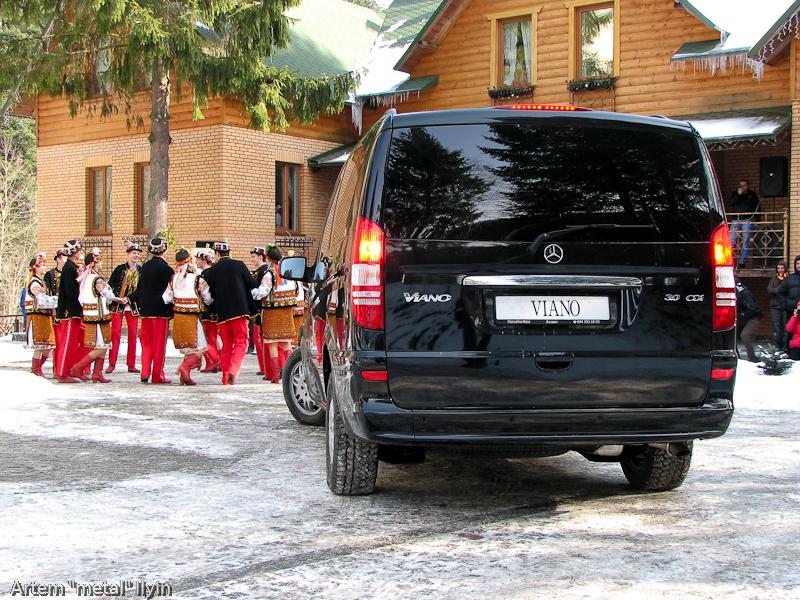 Буковель фестиваль полноприводных автомобилей полноприводный Mercedes Viano Карпаты