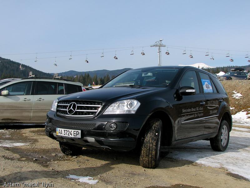 Буковель фестиваль полноприводных автомобилей, Mercedes ML экстерьер