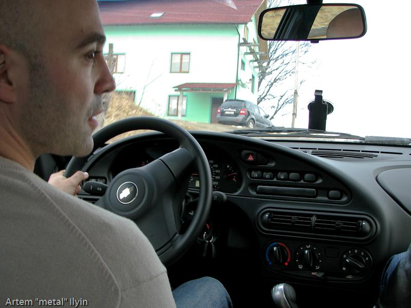 Буковель фестиваль полноприводных автомобилей, Chevy Niva интерьер