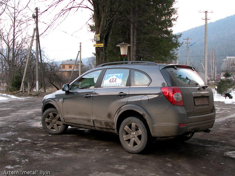 Буковель фестиваль полноприводных автомобилей, Chevrolet Captiva
