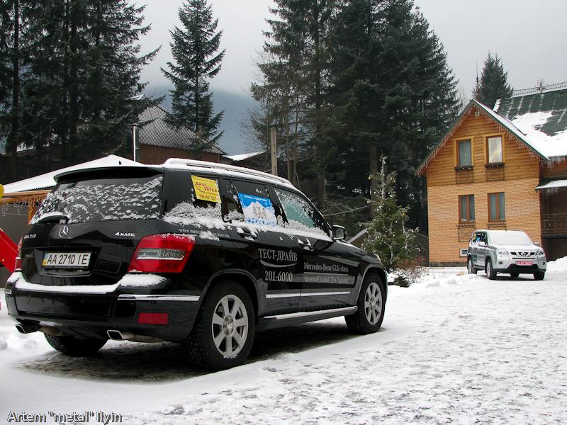 Буковель Карпаты фестиваль 4х4 Mercedes GLK