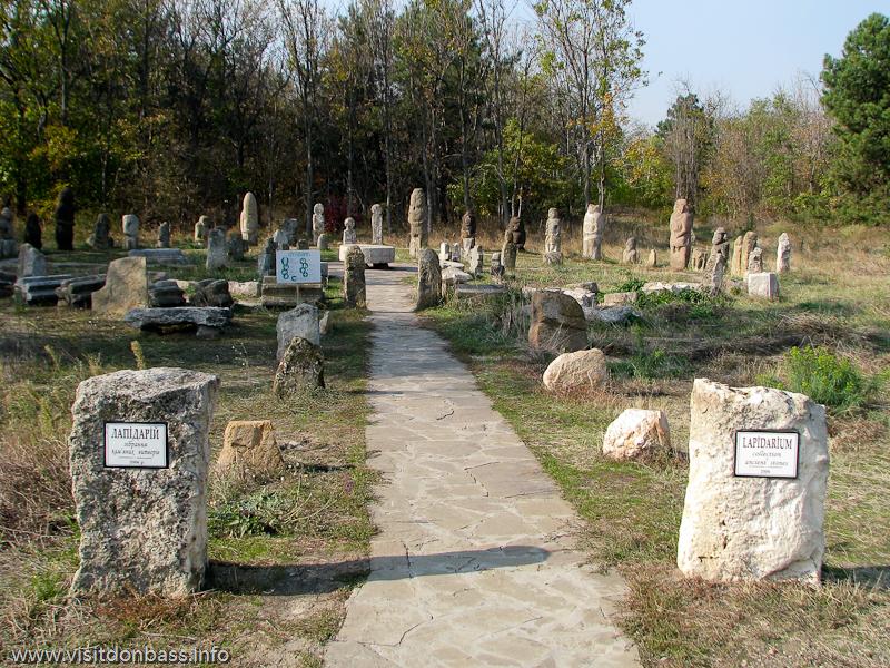 Лапидарий (каменные скульптуры) в комплексе Скифский стан. Хортица, Запорожье