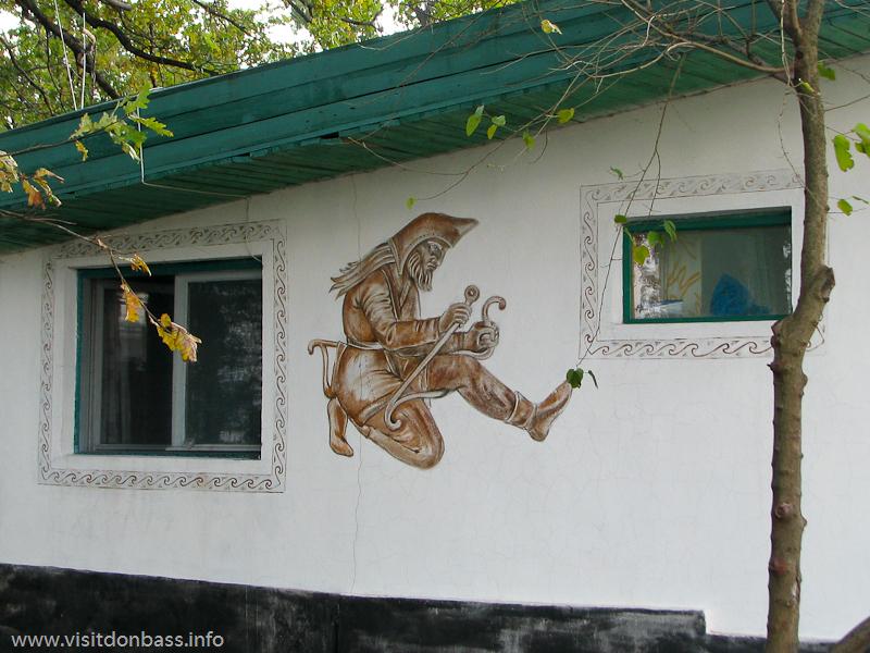 Домик охранника в комплексе Скифский стан. Хортица, Запорожье
