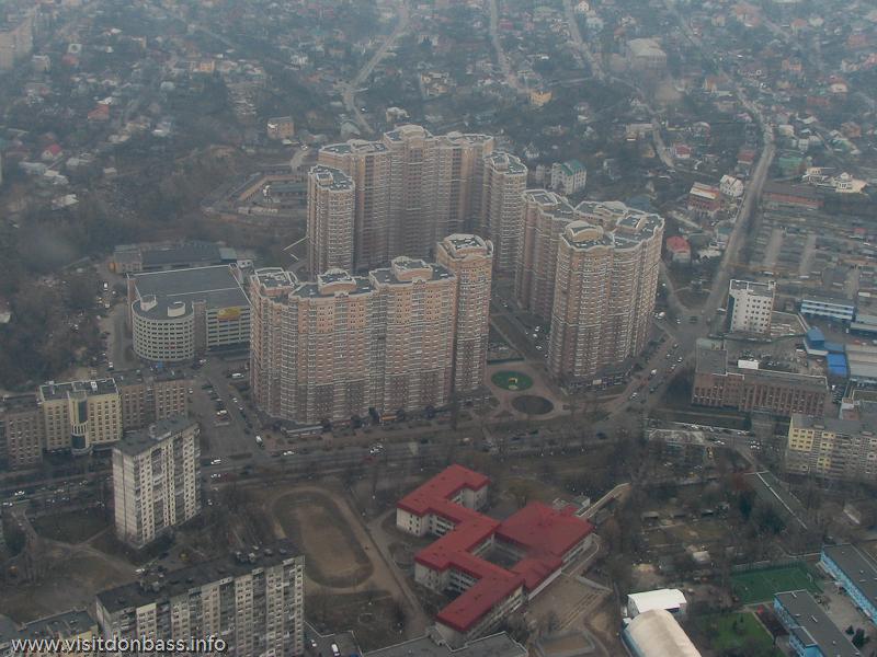 Полет над Киевом, Голосевская улица. Район метро Демеевская