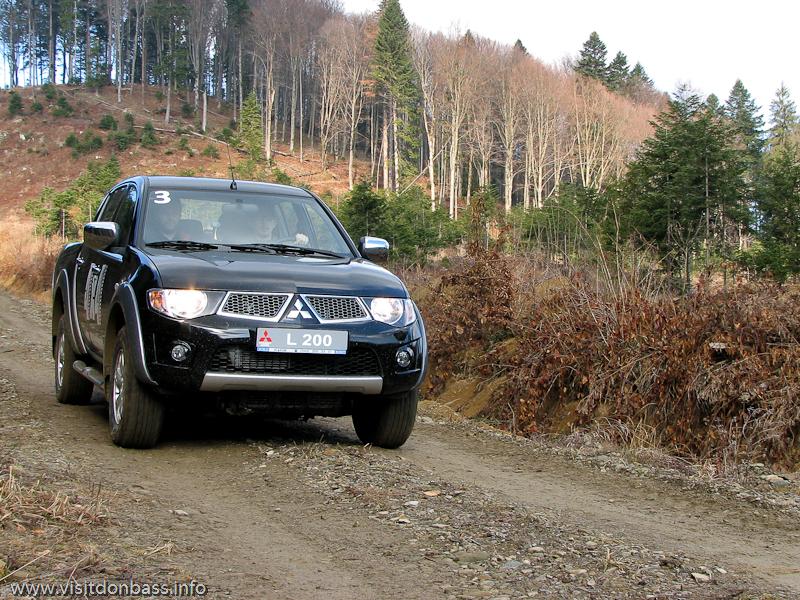 Тест-драйв Mitsubishi в Мигово Карпаты. L200 в горах