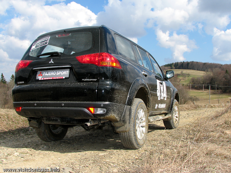 Тест-драйв Mitsubishi в Мигово Карпаты. Pajero Sport на вершине горы